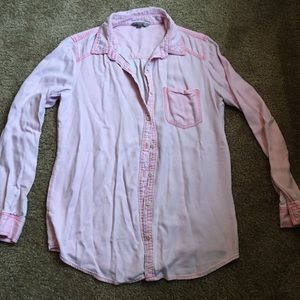 Baby pink button down